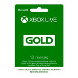 Cartão Xbox Live Gold 12 Meses Xbox One + Gamepass Ultimate