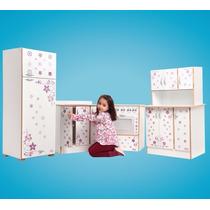 Kit Cozinha Infantil Com Eletrôdomésticos Em Mdf, Creche