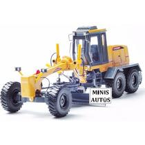 Miniatura Trator Motoniveladora Kaidiwei Escala 1/35