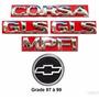 Kit Emblema Corsa Hatch Gls Mpfi - 97 À 99 - Modelo Original