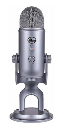 Microfone Blue Yeti Condensador Omnidirecional, Cardióide, Bidirecional, Estéreo Space Gray