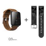 Q9 Relógio Inteligente Português Frequência Cardíaca Marrom