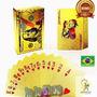 Baralho Dourado Ouro 24k Dollar Poker Cartas Jogos P'agua
