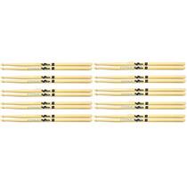 Baqueta Spanking 7a Madeira Para Bateria Kit Com 10 Pares