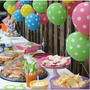 Decoração De Festa Colorida Poá - 100 Balões De Bolinha