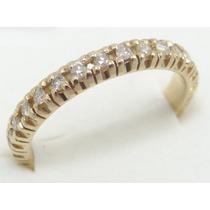 Feliz Joias - Aliança Ouro 18k Inteira De Diamantes 0,84 Cts
