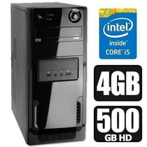 Pc Cpu Intel Core I5 2ªg+4gb Ram+hd 500gb!garantia 1 Ano!