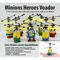 Boneco Minions Heroes Voador C\ Sensor De Indução