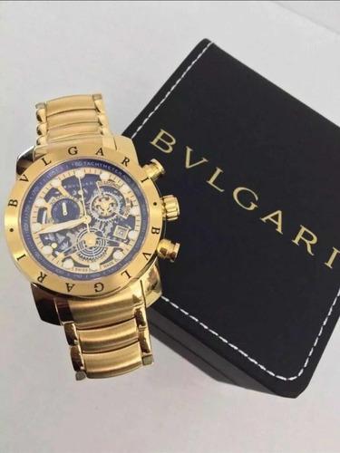 Relógio Bvlgari Subaqua Skeleton Dourado Prata Liquidação!!! - R ... e626ce7e8b