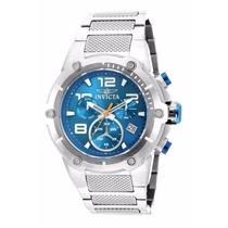 Relógio Invicta Speedway 19527 - Azul Prata Masculino