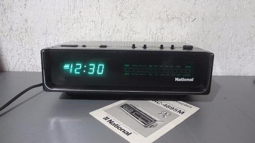 e03cb6da4ea Radio Relógio Nationa Rc-4895 M - Com Manual