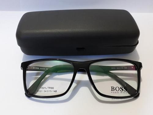 30d668e257a9f Armacao De Grau Óculos Acetato Masculino Hugo Boss
