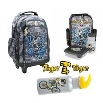 Kit Escolar Tigor T. Tigre Mochila + Lancheira + Garrafa