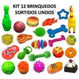 Kit 12 Brinquedo Mordedor Para Pet Cachorro Preço De Atacado