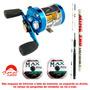 Carretilha Marine Sports Caster 400 + Vara + 2 Linhas