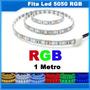 Ultra Fita Led 5050 Rgb 1 Metro P/d'agua + Controle + Fonte