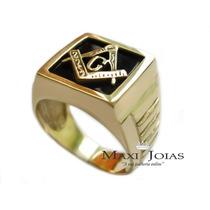 Anel Da Maçonaria Em Ouro 18k (anel Maçom)