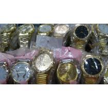 Kit 10 Relógio Feminino Dourado Atacado Ótimo Pra Revender