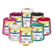 Kit 9 Barbantes Euroroma Colorido Fio 6 E Fio 8