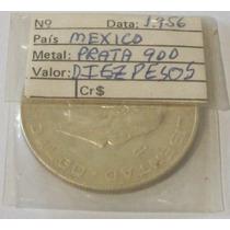 Antiga Moeda Mexicana Em Prata Ano 1956