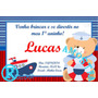 Convite Arte Digital Urso Marinheiro Chá De Bebê Aniversário