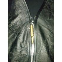 Colete Couro Para Motociclista Com Ziper (motoclube)