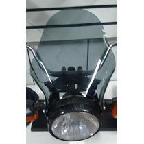 Bolha Universal Fumê Moto Farol Redondo, Cg, Intruder 125