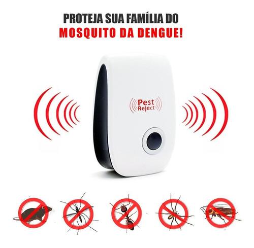 Lote 2 Repelente Eletrônico Espanta Ratos Baratas Mosquitos