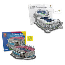 Maquete 3d Oficial Estádios Barcelona E Real Madrid