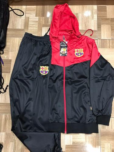 b142c94111b04 Agasalho Do Barcelona Blusa E Calça Vermelho Preto Conjunto à venda ...