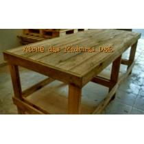 Mesa Bancada Rústica Palete Madeira Eucalipto Nova 1,80m