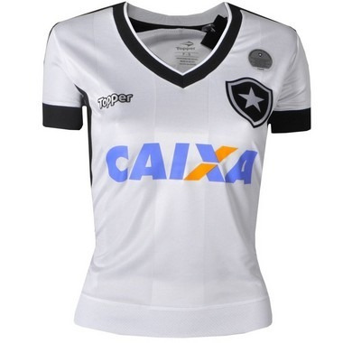 Camisa Botafogo Jogo Iii Feminina Sem Número Com Patrocínio b3c8d6a0647f3