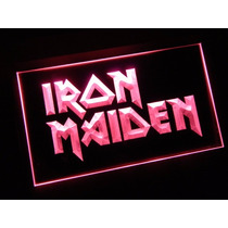 Iron Maiden - Luminoso Estilo Neon Exclusivo 220 V
