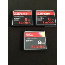 Cartao Memoria Sandisk Extreme Compact Flash 8gb - 60mb/s