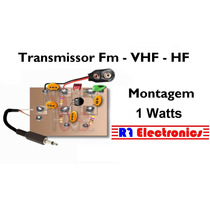 Transmissor Placa Fm Vhf 1a2 Watts A Cristal Mudavel Não Pll