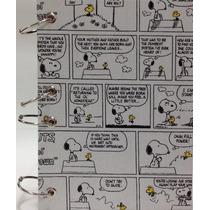 Caderno Pequeno Argolado Fichário Snoopy Preto 170x230mm 192