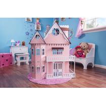 Casa Barbie Casinha De Bonecas Palácio E Moveis Pintura P-p