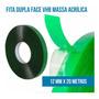Fita Vhb Dupla Face 12mm (largura) X 20 Metros (comprimento) Original