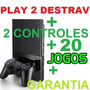Video Games Ps2 Desbloqueado   20 Games   Memory   Garantia!