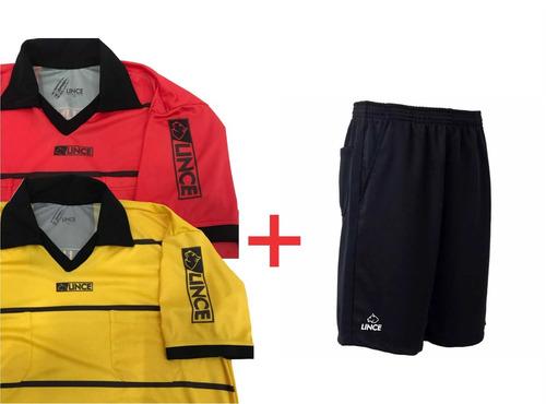 3c1022cdc5 Kit 2 Camisas + 1 Shorts Arbitro Futebol Lince Escolha Cores. Kit 2 Camisas  + 1 Shorts Arbitro Futebol ...
