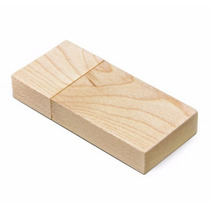 1 Pen Drive Bambu/madeira 4gb