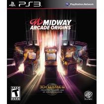 Midway Arcade Origins Ps3 Novo Original Lacrado +de 30 Jogos
