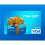 Gift Card Cartão Pre Pago Visa $100 Dolares