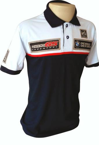 Leve 02 Camisetas Polo Bmw R 1200 Gs Rallye Frete Gratis 4899ea005001a
