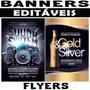 Banners Editáveis Flyers Posters Alta Definição