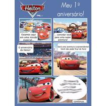 50 Convite Gibi Aniversário Carros Disney 48hrs