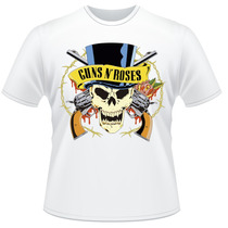 Camiseta Guns N Roses Axl Slash Rock Anos 80 Camisa
