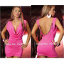 Mini Vestido Rosa Shiny Wet Look Sexy Lindo.show !!!!!!!!