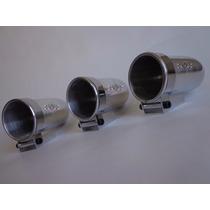 Kit 3 Copo 52mm Aluminio Manômetro Instrumento Painel Turbo