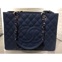 Autentica Chanel Shopper Gst Blue ... Pronta Entrega
